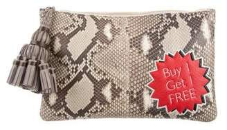 Anya Hindmarch Georgiana Buy 1 Get 1 Free Python Clutch