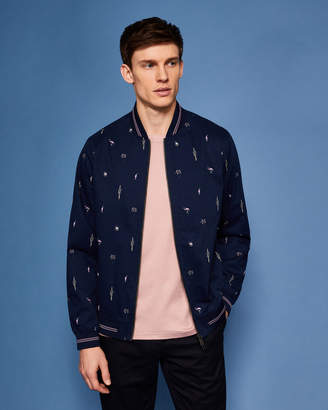 Ted Baker BRISTL Tropical print bomber jacket