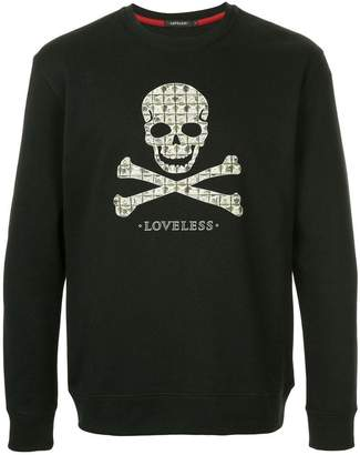 Loveless skull print sweatshirt
