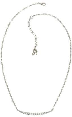 Adore Curved Crystal Bar Necklace