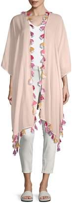 Bindya Women's Tassel Trim Kimono Cardigan
