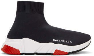 Balenciaga Navy Speed High-Top Sneakers