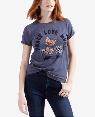 Lucky Brand Cotton Embroidered Rock Graphic T-Shirt
