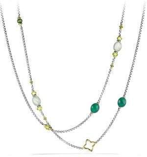 David Yurman Bead& Chain Long Necklace