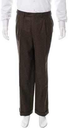 Luciano Barbera Flat Front Wool Pants