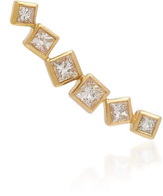 Octavia Elizabeth Ivy Gold and Diamond Ear Climber