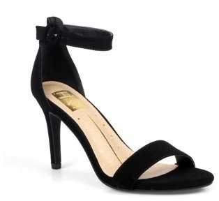Mark And Maddux Mark and Maddux Round Buckle Women's Stiletto Heel Sandals in Black