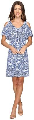 Christin Michaels - Born Cold Shoulder Shift Dress Women's Dress $69 thestylecure.com
