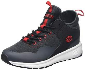 Heelys Boys' Piper Trainers, Grey Black Heather/Red, 1 (33 EU)