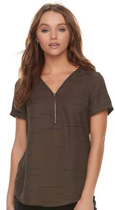 Apt. 9 Women's Zipper Accent Top