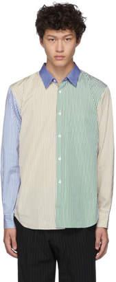 Comme des Garcons Homme Deux Homme Deux Multicolor Broad Stripe Shirt