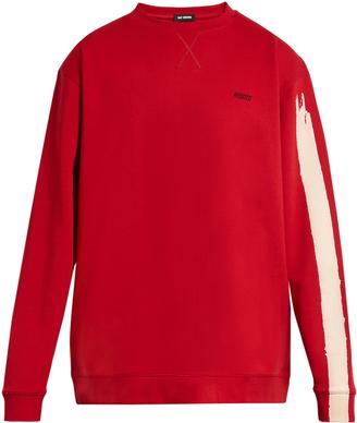 RAF SIMONS Brushstroke-print oversized cotton sweatshirt $381 thestylecure.com