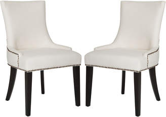 Safavieh Lester 19''H Dining Chair (Set Of 2) - Brass Nail Heads