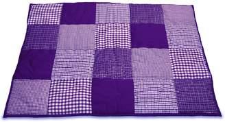 Taftan 100% Cotton Patchwork Checks Playpen Mat 100 x 80cm (Light Blue)