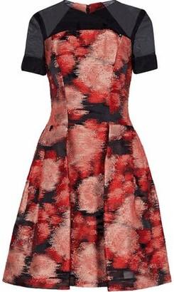 Carolina Herrera Pleated Fil Coupe Organza Dress