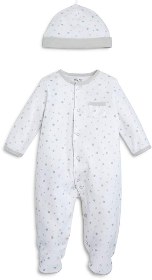 Unisex Star-Print Footie & Cap Set, Baby - 100% Exclusive