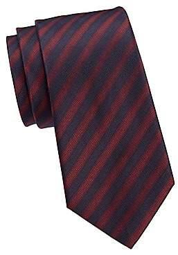 Giorgio Armani Men's Diagonal Stripe Silk Tie