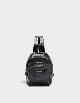 Marc Jacobs Mini Double Pack Bacpack in Black Cow Leather
