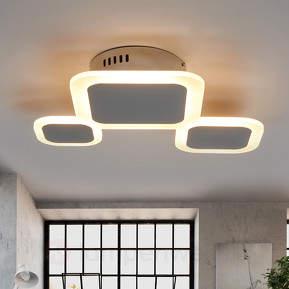 Dreiflammige LED-Deckenleuchte Ita, sehr trendig
