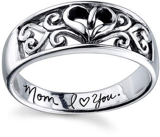 Footnotes Womens 6.5mm Heart Band