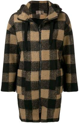 Altea zip-up plaid hooded jacket