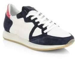 Philippe Model Monaco Vintage Leather Sneakers