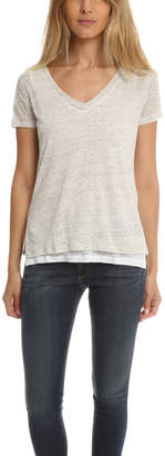 Majestic Filatures Double Layer V Neck Tee