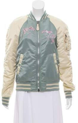 Alpha Industries Embroidered Bomber Jacket
