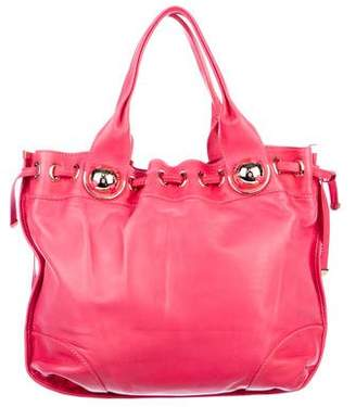 Versace Leather Drawstring Tote