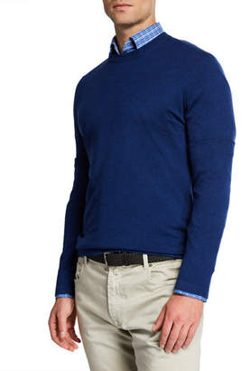 Neiman Marcus Men's Cashmere/Silk Crewneck Sweater