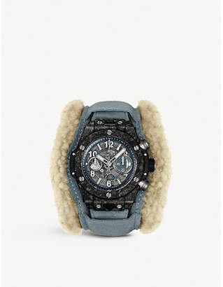 Hublot Big Bang Alps frosted-carbon watch