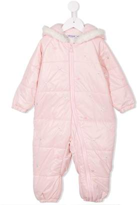 Mikihouse Miki House zipped padded romper