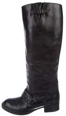 Bottega Veneta Leather Round-Toe Boots