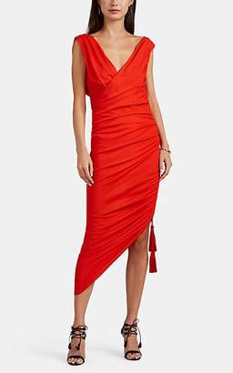 Lanvin Women's Ruched Crepe Dress - Red