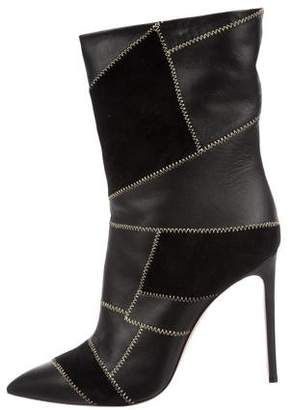 Casadei Paten Patchwork Ankle Boots w/ Tags