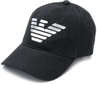 9f79916e711 Emporio Armani logo print baseball cap