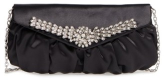 Menbur Caracas Crystal Embellished Clutch - Black $95 thestylecure.com