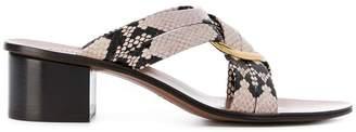 Chloé ring embellished cross over sandals