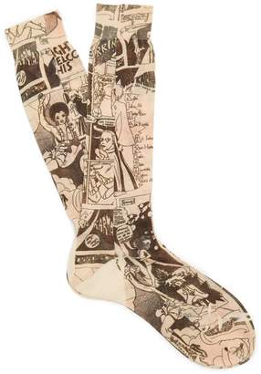 Prada Comic-print cotton socks