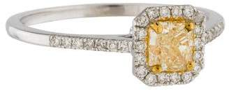 14K Yellow Diamond Halo Engagement Ring