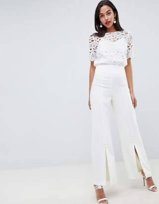 Coast Button Wide Leg PANTS