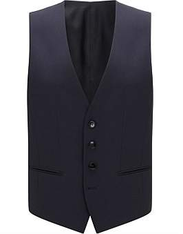 HUGO BOSS Slim-Fit Waistcoat In Virgin Wool