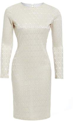 Sarvin - Morena Ivory Long Sleeve Backless Knot Detail Dress