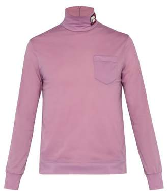 Prada Logo Patch Roll Neck Top - Mens - Pink