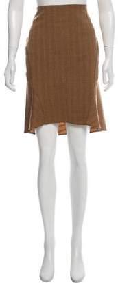 Yigal Azrouel Printed Virgin Wool Skirt