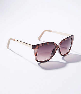 LOFT Metallic Arm Square Sunglasses