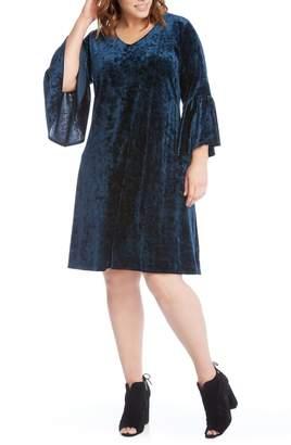 Karen Kane Bell Sleeve Velvet Dress