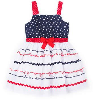 Little Lass Embellished Sleeveless Sundress - Toddler Girls