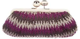 Anya Hindmarch Woven Satin Clutch
