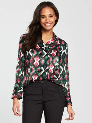 MANGO Geometric Printed Shirt